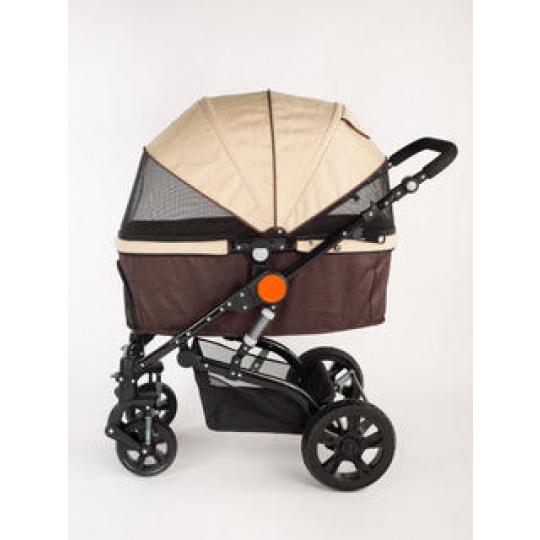 Wagen, braun/beige Stroller für Hunde, Katzen und anderen Tieren, Hundewagen, pet roadster, tier trolley, Hundebuggy, Buggy braun/beige