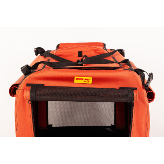 Zusammenklappbare Transportbox COOL PET PLUS 2XL Farbe ZIMT 91 x 64 x 64 cm