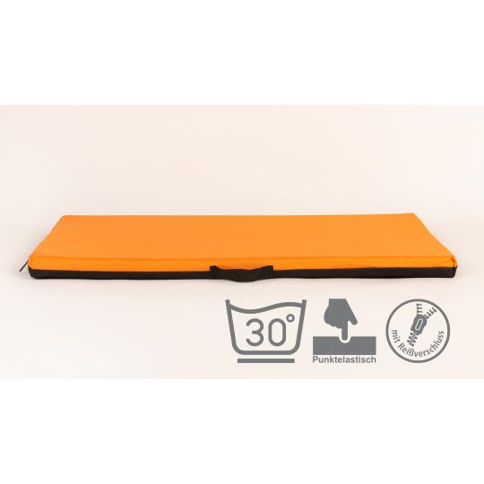 Memory foam orthopädische Hundebett mit abnehmbarem Bezug Oxford Textilien orange 4XL 120x80cm 10cm hoch