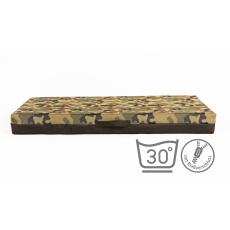 Matratze für Hunde mit abnehmbarem Bezug  Oxford Textilien CAMOUFLAGE 4XL 120x80cm 10cm hoch