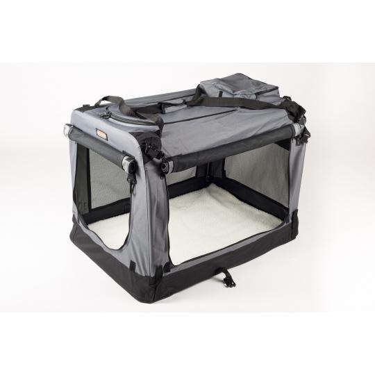 Transportbox COOL PET PLUS S grau  49,5 x 34,5 x 35 cm
