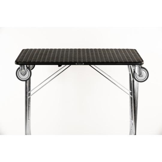 Trimmtisch Schertisch Haustierpflegetisch faltbar mit Räder,  90*55cm