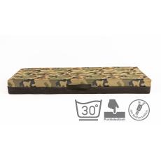 VISCO memory foam Matratze für Hunde mit abnehmbarem Bezug  CAMOUFLAGE Oxford Textilien 4XL 120x80cm 10cm hoch